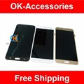 Negro blanco del color del oro para samsung j7 4.7 pulgadas lcd display + touch screen digitizer 1 pc/lot