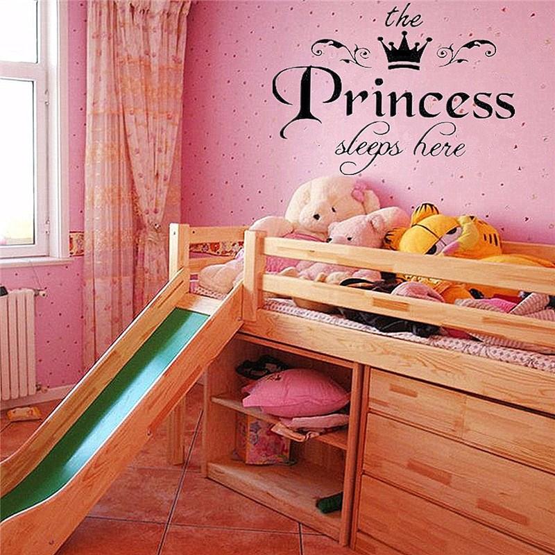 HTB1h44HKpXXXXafXFXXq6xXFXXXy - New Arrival DIY Removable Princess Sleeps Wall Stickers For Kids Rooms