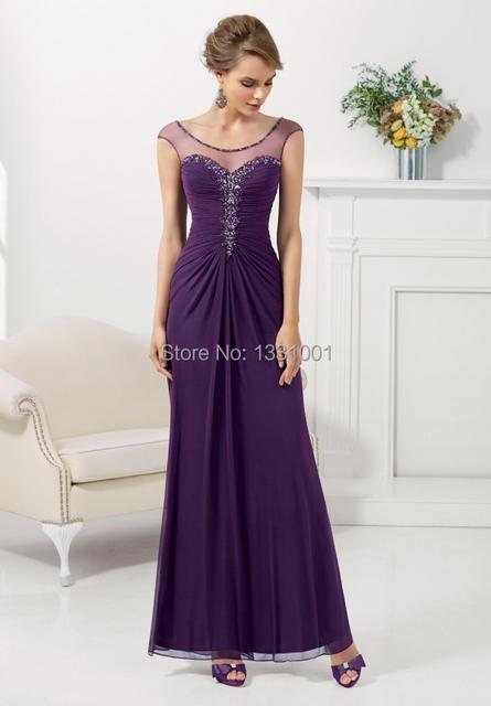 Vestido de Madrinha Modest longo Mãe Da Noiva Vestidos de 2015 Nova Moda Vestido de Festa Vestido Mae da Noiva Plus Size
