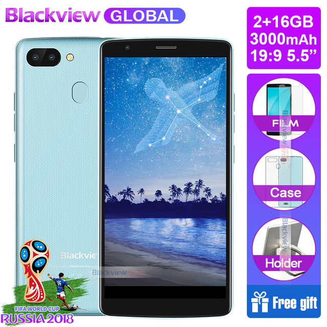 2018 NEW ARRIVAL OFFICIAL Blackview A20 pro Smartphones 18:9 5.5 inch Android 8.1 rear fingerprint ID 2GB 16GB 4G Mobile phone