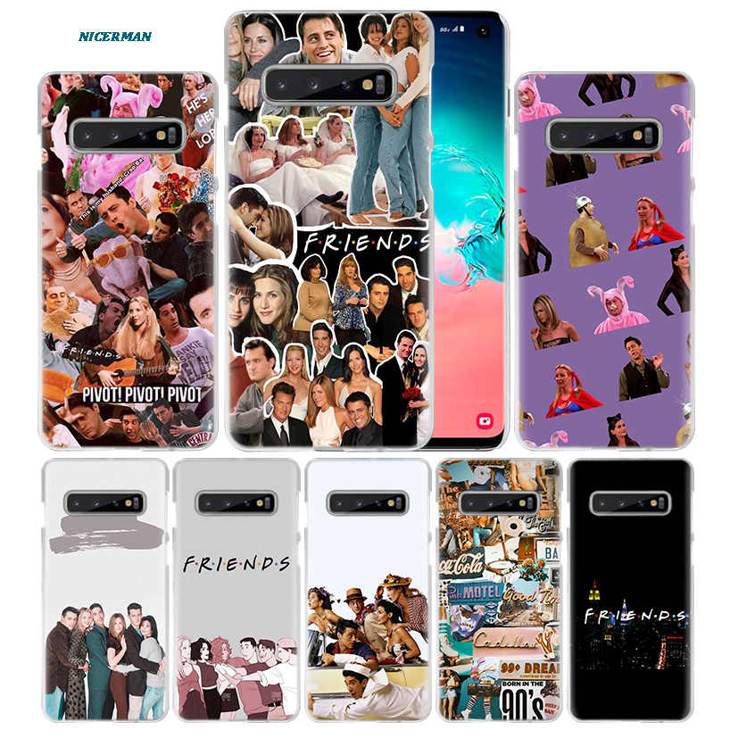 Friends TV Show Case for Samsung Galaxy S10 5G S10e S9 S8 M30 M20 M10 J4 J6 Plus J8 2018 Note 8 9 Clear Hard PC Phone Cover Capa