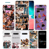 galaxy note Friends TV Show Case for Samsung Galaxy S10 5G S10e S9 S8 M30 M20 M10 J4 J6 Plus J8 2018 Note 8 9 Clear Hard PC Phone Cover Capa (1)