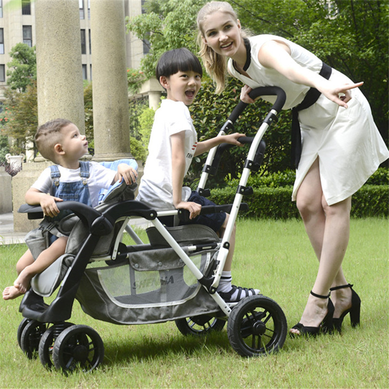 Baby Stroller For Twins Second child double stroller Baby Carriages For Newborns Prams