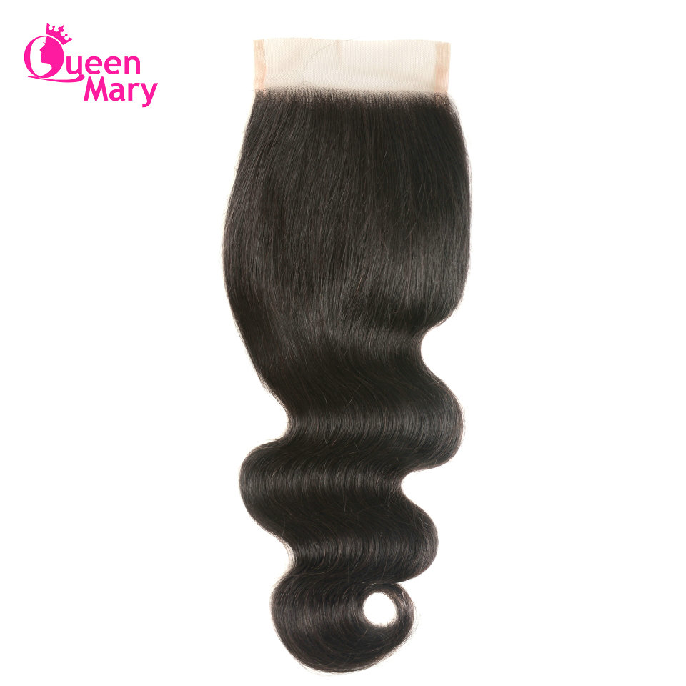 Queen Mary Hair Brazilian Body Wave Lace Closure Non-Remy Hair Natural Color 100% Human Hair Lace Closure Brazilian Hair