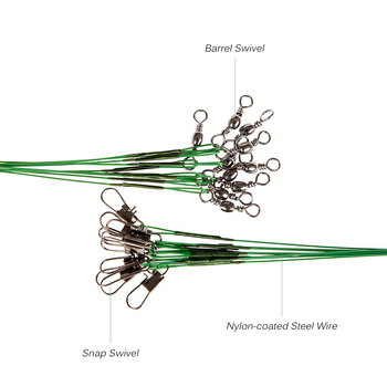 Best No1 Lixada Nylon-coated Spinner Fishing Wire Fishing Lines cb5feb1b7314637725a2e7: Green