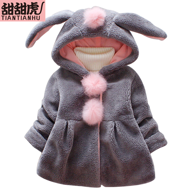 Coat Jacket Outside-Wear Toddler Hooded-Clothes Girls Rabbit Kids Autumn Cute Spring
