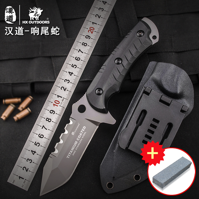 цены  HX OUTDOORS Rattlesnake outdoor tactical knife, high hardness field survival, self-defense saber, portable tool knife
