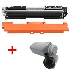 1 PK kaseta z czarnym tonerem + 1 butelka proszek tonera do HP LaserJet Pro CP1025 M275 100 kolorowe urządzenie wielofunkcyjne M175a M175nw drukarki