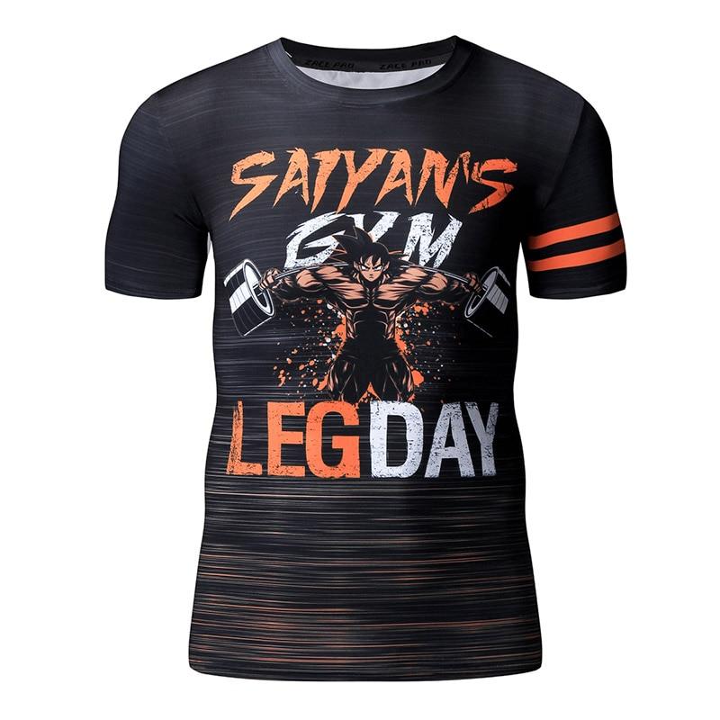 Dragon Ball Hip Hop 3D Printer   T     Shirt   Mens   T     Shirts   Fashion 2017 Summer For Men Stranger Things Plus Size O-neck Funny   T     Shirts