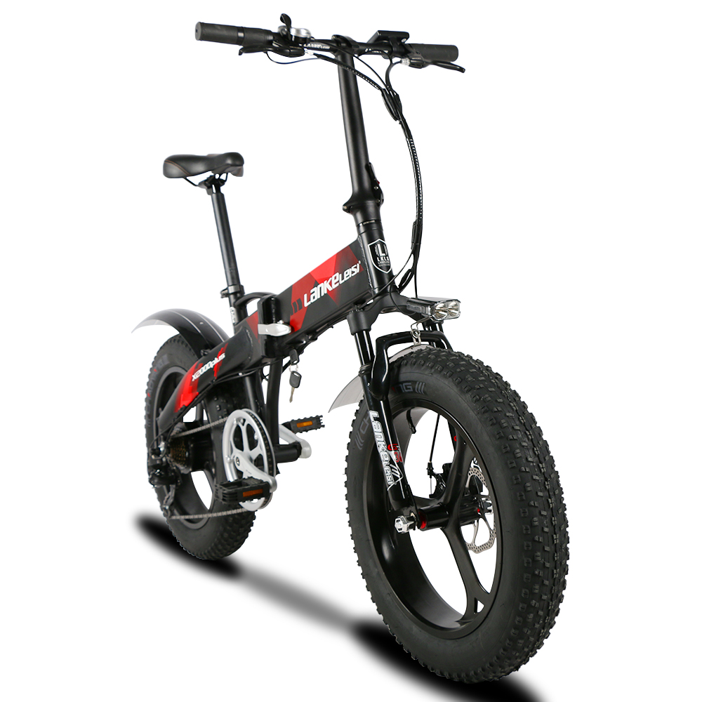 E Full In Lankeleisi X2000plus Electric Bike Fat Tire Ebike 7 Speeds Full Suspension Foldable 500w Motor 48v 12 8a Lithium Battery E Bike