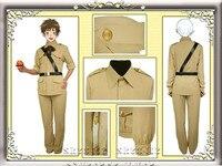 Anime Axis Powers Hetalia Spain Military Uniform Cosplay Costume Customized Size