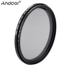 Andoer 72mm ND Fader Neutral Density Adjustable ND2 to ND400 Variable Filter for Canon Nikon DSLR Camera(China)