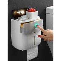 Toilet paper towel toilet paper holder toilet toilet household perforation free creative waterproof paper drawing reel XI3191735