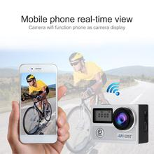 цена на Sport Cameras 4k Ultra HD Wifi 2.0 Inch 170°wide Angle Lens Waterproof Car DVR Sports Dv Outdoor Diving Bicycle Camcorder