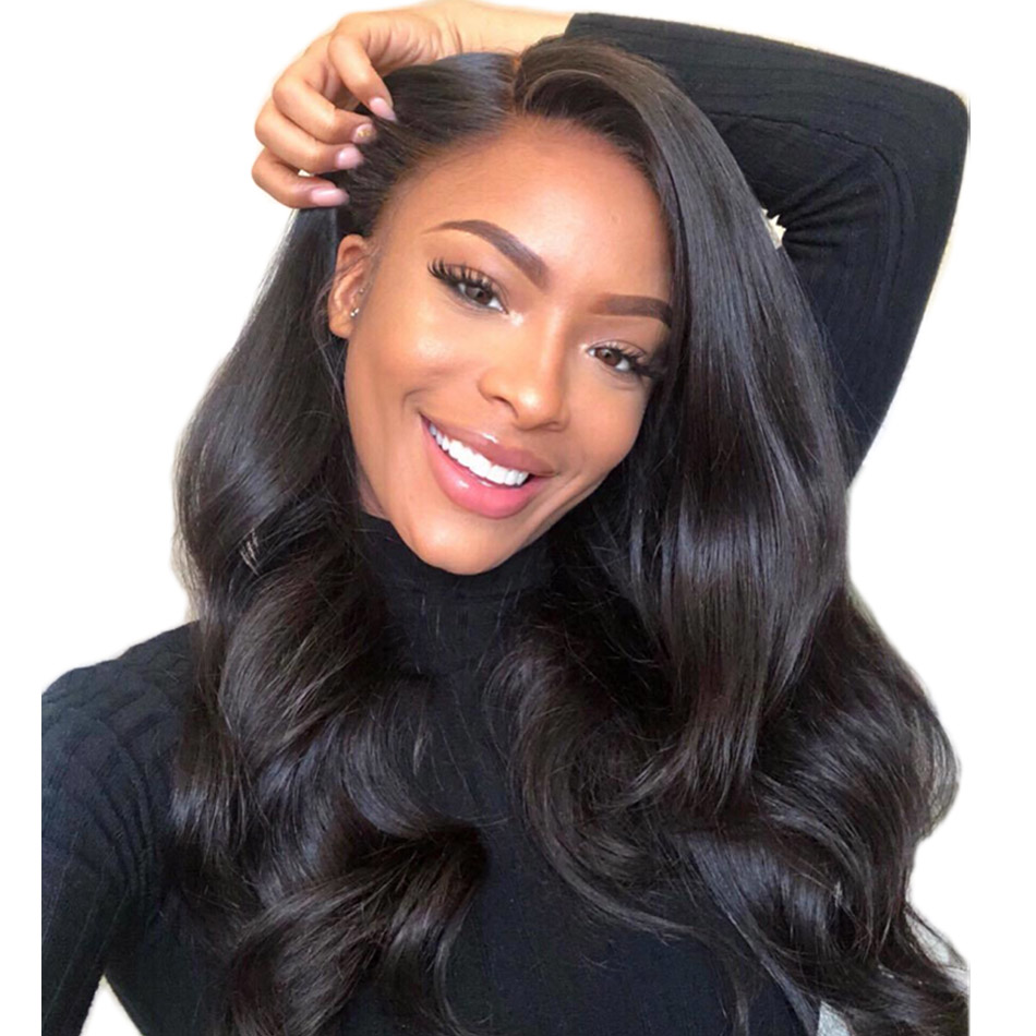 ALIBELE 360 Lace Frontal Wig Peruvian Body Wave 150 Density Remy Human Hair Wig Pre Plucked