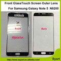 10 unids/lote pantalla de alta calidad frente sin sensor flex cable outer lente de cristal para samsung galaxy note 5 n9200