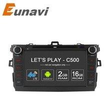"""Eunavi 8 """"Android 6.0 4 Rdzeń 2G RAM samochodowy odtwarzacz dvd dla Toyota corolla 2007-2011 w desce rozdzielczej 2 din gps navi 4G LTE Sieci"""