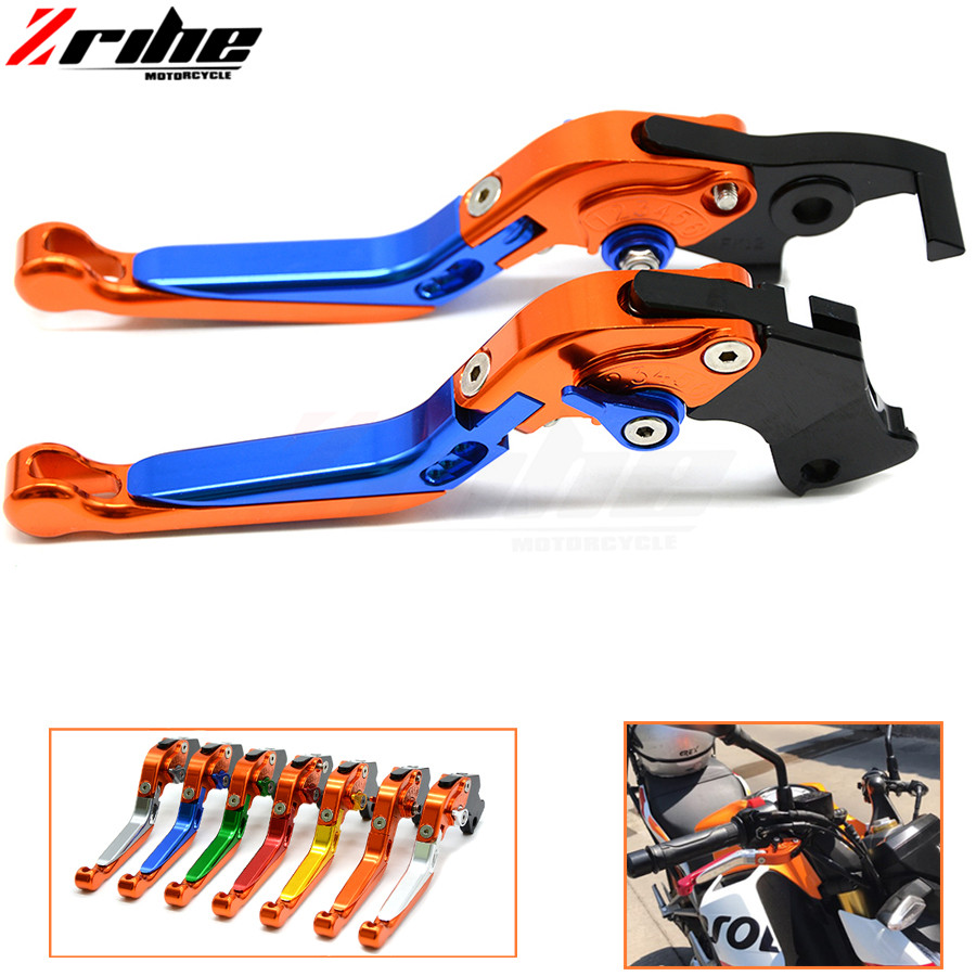 Brake Folding Adjustable Motorcycle accessories Brake Clutch Levers Telescopic folding For ktm 690 Duke/SMC/SMCR 690 Enduro R 2017 hot motorcycle adjustable folding extendable brake clutch levers motorbike brake for ktm duke 690 smc smcr 2014 2015 2016