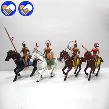 West Cowboy Knights on Horse People Model Indian Action Figures Native American Best Toy Gift for Children Kids Adults