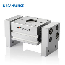 NBSANMINSE Air Gripper Wide Design MHL2 SMC Type Compress Air Cylinder Double Acting Parallel Style Pneumatic Gripper Automation mhs3 16d smc type air gripper 3 finger type pneumatic parallel style double acting accept custom