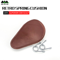 Modified Harley Cruise Prince Seat Saddle Cowhide Adjustable Spring Seat for Motorcycle