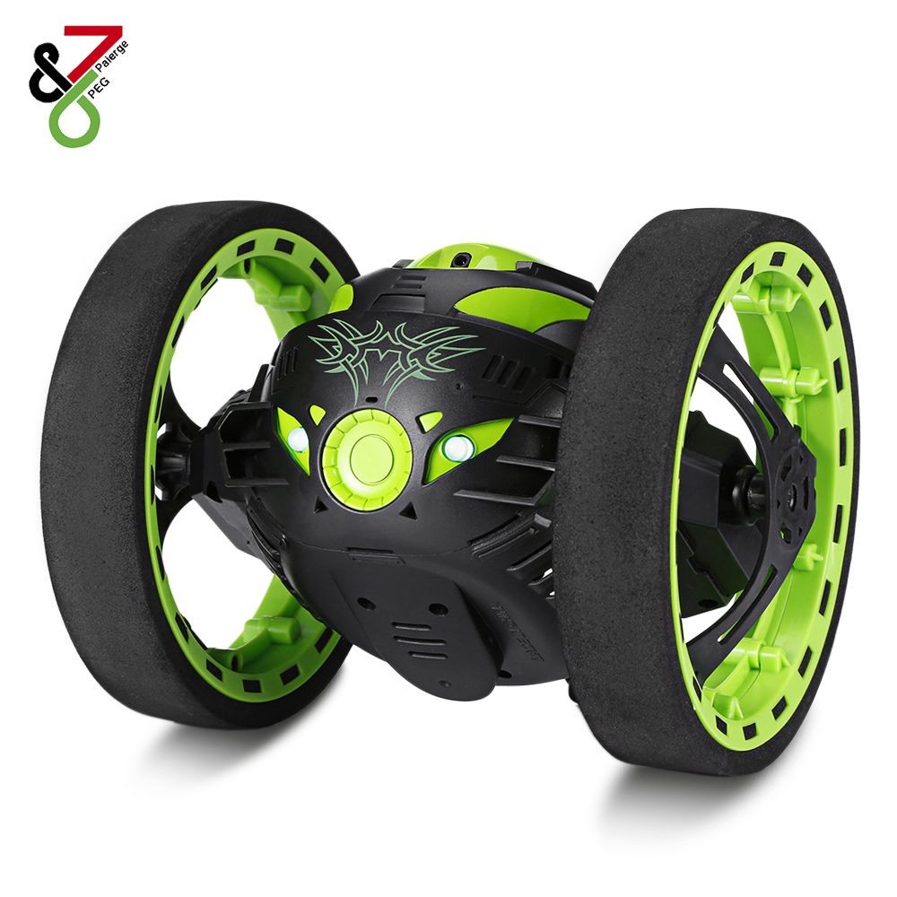 2018 New Mini Cars Bounce Car RC Car with Flexible Wheels Rotation LED Light Remote Control Robot Car Toys Gifts for Boys Kids rc car bounce car peg 88 2 4g remote control toys jumping car with flexible wheels rotation led night lights rc robot car gift