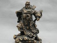 """9 """"Çin Savaşçı Asker Guangong Guan Yu Kılıç Ejderha Bronz Heykeli statue bronze statue soldierstatue china -"""