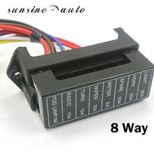 8 способ DC32V Держатель Предохранителя Цепи прицеп для легковых автомобилей Авто лезвие предохранителей блок держатель УВД АТО 2-вход 8-ouput провода