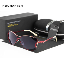 HDCRAFTER sunglasses women polarized vintage butterfly Fashi