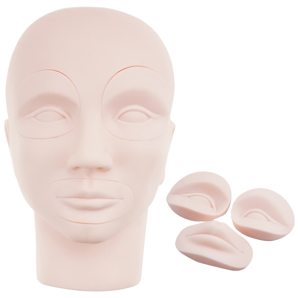 NEW Mannequin Head For Eyelash Eyebrow Lip Mannequin Head For Makeup Practice Dummy Training Head Paspop Model 1pcs new female training silicone mannequin pvc manikin head model wig hair glasses hat display make up face closed eye practice
