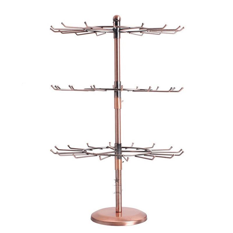 48 tient des présentoirs de bijoux Borwn métal Rotation collier Bracelet présentoir 53x35.5cm support pour collier vitrine-in Boîtes et vitrines à bijoux from Bijoux et Accessoires    1
