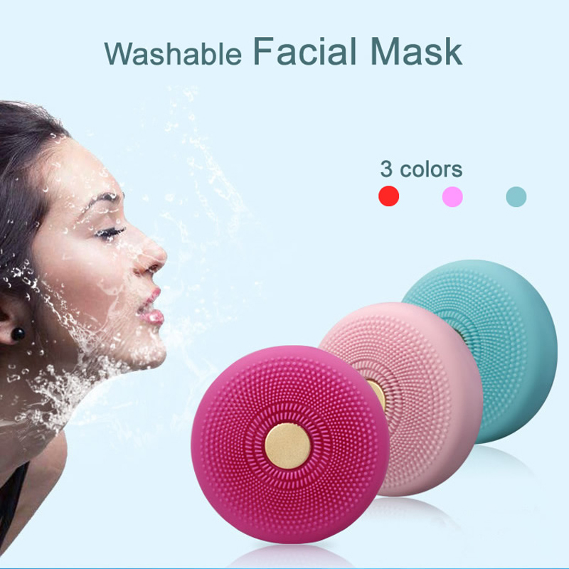 Multifunction Facial Mask Treatment in 90 Second Beauty Massager Photon Therapy Acne Rremoval Ultrasonic Face Cleaning Care Tool 3mhz ultrasonic massager galvanic photon face cleaning facial led light therapy acne age spot freckle treatment facial beauty