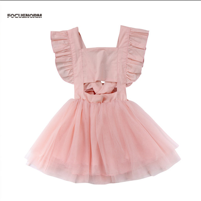 23dc4fb5117e Newborn Toddler Kids Baby Girl Tutu Dress with Flower Infant Clothes Fancy  Girls Party Dress 0-5 Year Baby Girl Clothing