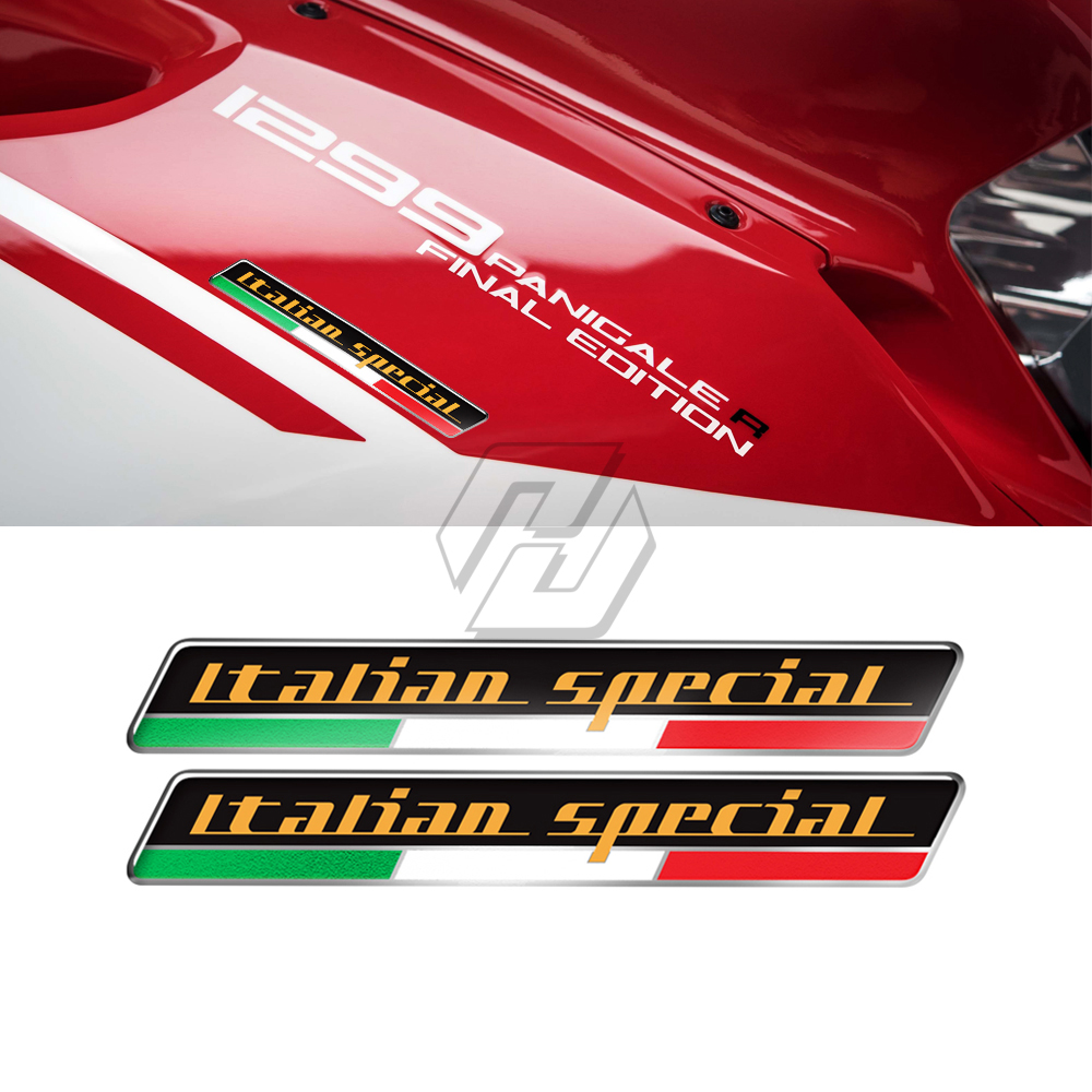3D Motorcycle Tank Decals Italy Sticker Italian Special Decals Case For Ducati Monster Aprilia RS RS4 RSV4 MV