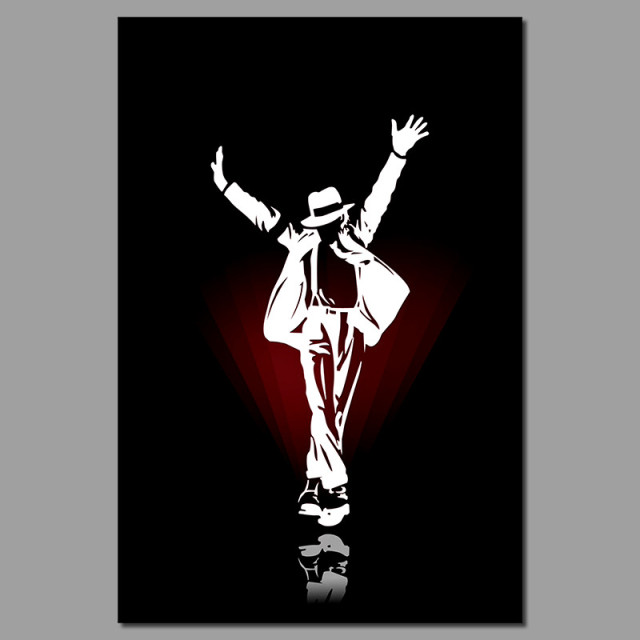 Black White Famous Star POP King Michael Jackson Living Room Decoration Poster Canvas Painting Wall Art