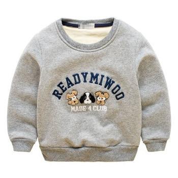 2016 New Winter Kids Plus velvet T shirt Thick cotton Fashion Baby Boys girl Warm Cashmere sweatshirts children clothes hoodies