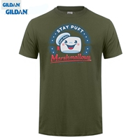 GILDAN STAY PUFT T SHIRT GHOSTBUSTERS CULT MOVIE FILM 1980 S MARSHMELLOW Cheap Sale 100 Cotton