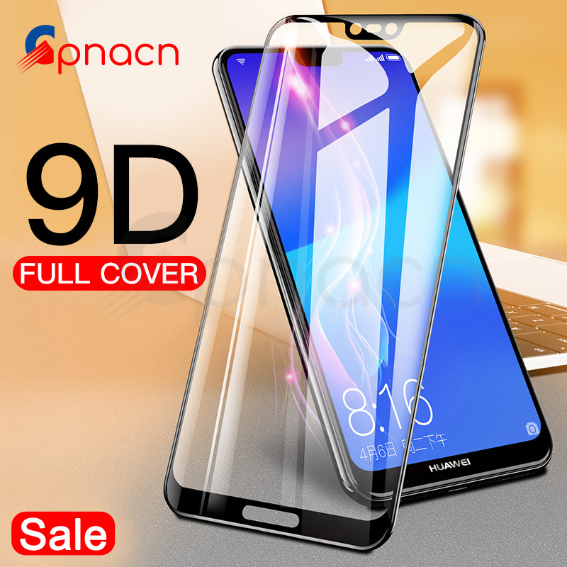Protective-Glass Case Glass-Film Huawei P20 P9-Lite-Plus Smart P10 for Tempered-Screen-Protector
