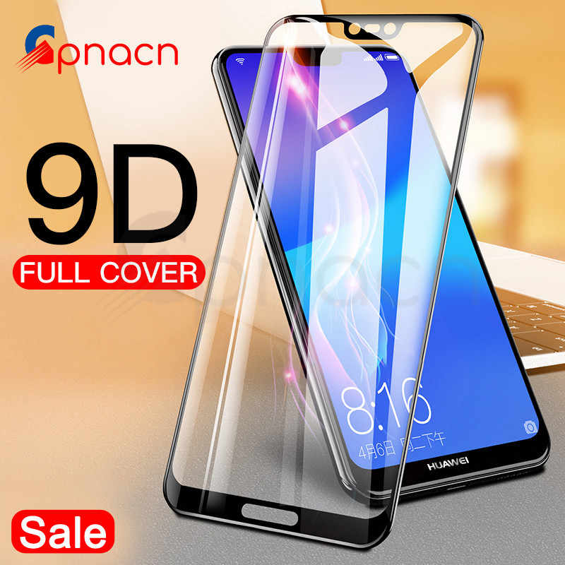9D Protective Glass on the For Huawei P20 Pro P10 P9 Lite Plus Huawei P Smart 2019 Tempered Screen Protector Glass Film Case
