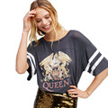 2017 Queen letters Printed funny T Shirt for Women Summer Fashion Female t shirts Casual Loose Tops