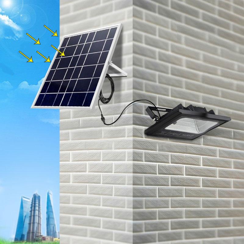 Solar Led Flood Light Security light solar led floodlight 100W with Solar Panel Waterproof IP65 Led Reflector Garden Spotlight
