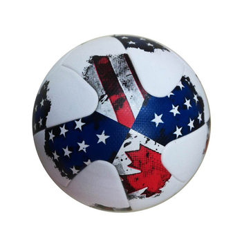 top quality  Size 5 PU Soccer Ball gtanule slip resistant Design Blue star Official white Football for training soccer balls soccer balls size 4