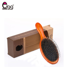 1PC  Natural Boar Bristle Comb Wooden Hair Care Healthy Cushion Massage Hairbrush Comb Makeup Comb Massage Tool With Gift Box недорого