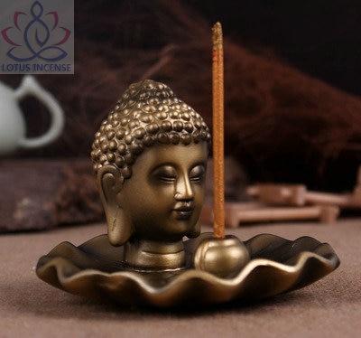 Buddha hlava keramická aromaterapie kadidlo držák na vonné - Dekorace interiéru - Fotografie 2