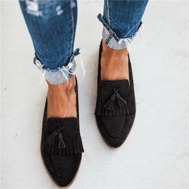 Women Flats 2019 New Spring Shoes Women Casual Solid Spring Summer Ballet Slip On Flats Loafers Shoes Woman Shoes Chunky