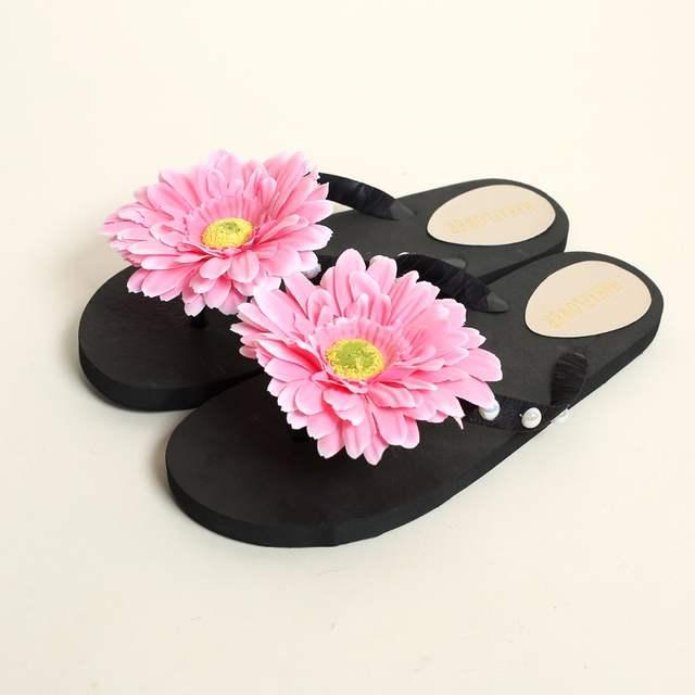 placeholder HAHAFLOWER summer women slippers flower slipper beach thong  slipper mules clogs garden shoes woman flats jelly 07c2c00b7bb0