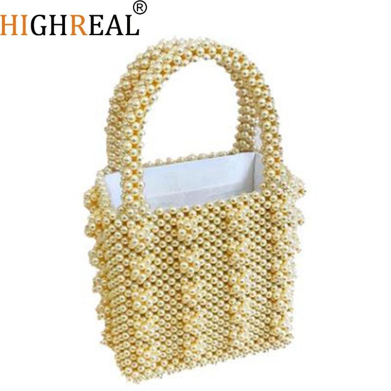 Perles sac perles boîte Totes sac femmes parti élégant sac à main 2019 été marque de luxe blanc jaune vert en gros livraison directe