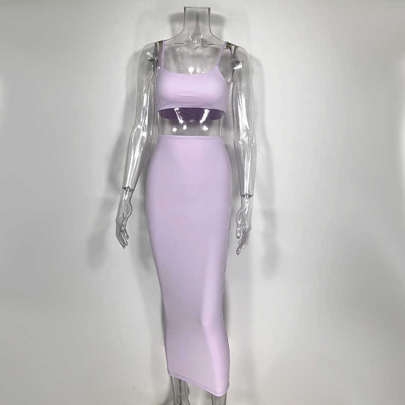 NewAsia גן 2 שכבות מקסי שמלה ארוך ורוד Bodycon שמלת נשים אלגנטי סתיו סקסי שמלת חורף מסיבת שמלות גבירותיי מועדון ללבוש