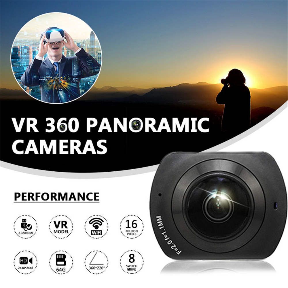 Cewaal 16MP HD Wifi DV Action Mini Panorama Camera 360 Degree Cam Ultra Waterproof 3D VR Video Recorder DVR Panoramic Camcorder soocoo cube 360h 4k wifi action camera 360 degree panorama vr camcorder 1080p 60pfs full hd mini sport dv with remote watch