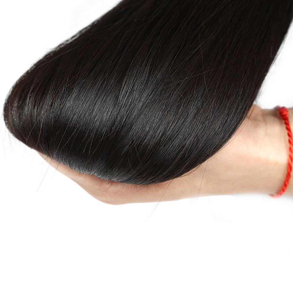 Как у королевы волосы продукты 1 3 4 шт 100% натуральные человеческие волосы переплетения пучки Remy натуральный цвет малазийские прямые пучки волос